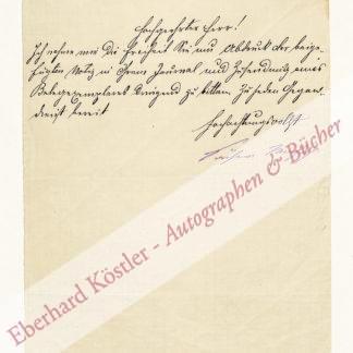 Sacher-Masoch, Leopold von, Schriftsteller (1836-1895).