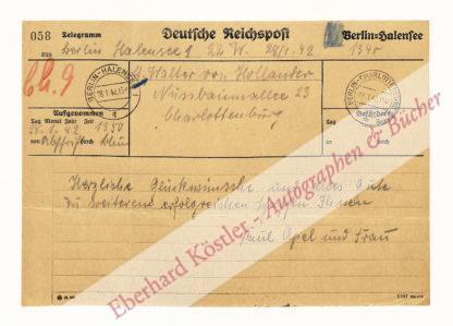 Apel, Paul, Schriftsteller (1872-1946).