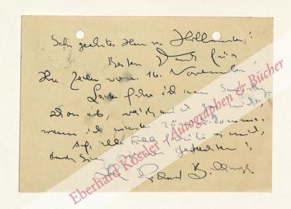 Billinger, Richard, Schriftsteller (1890-1965).