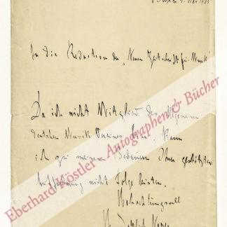 Noren, Heinrich Suso Jahannes, Komponist (1861-1928).