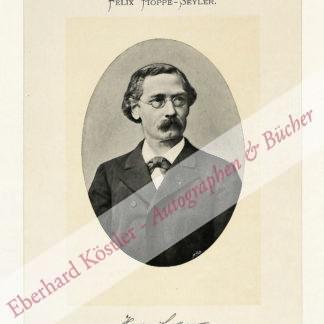 Hoppe-Seyler, Felix, Mediziner und Chemiker (1825-1895).