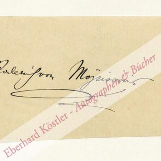 Mojsisovics von Mojsvár, Roderich Edler, Komponist (1877-1953).
