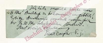 Doepler, Emil, Maler und Kostümbildner (1855-1922).