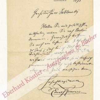Koerner, Ernst, Maler (1846-1927).