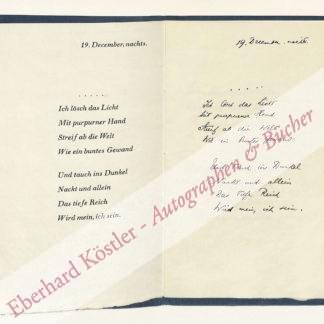 Hirsch, Rudolf, Verleger und Herausgeber (1905-1996).