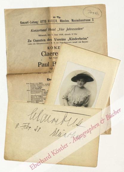 Dux, Claire, Sopran (1885-1967).