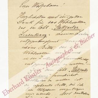 Koschat, Thomas, Sänger und Komponist (1845-1914).