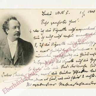 Stinde, Julius, Schriftsteller (1841-1905).