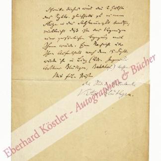 Blüthgen, Viktor, Schriftsteller (1844-1920).