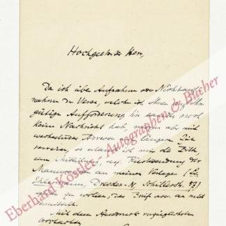 Avenarius, Ferdinand, Schriftsteller (1856-1923).