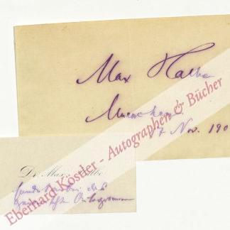 Halbe, Max, Schriftsteller (1866-1944).