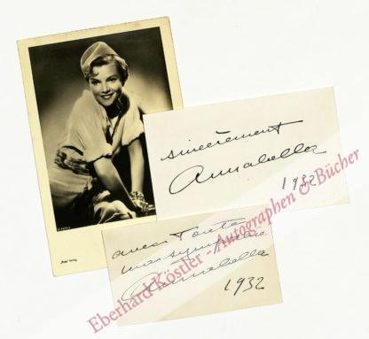 Annabella (d. i. Suzanne Charpentier), Schauspielerin (1910-1996).