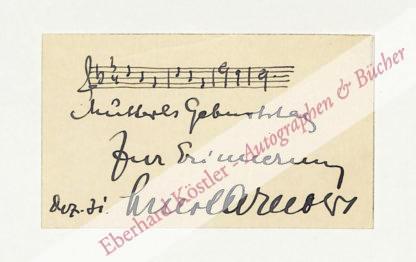 Arnold, Ernst, Komponist (1892-1962).