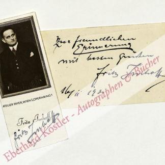 Imhoff, Fritz, Schauspieler und Sänger (1891-1961).