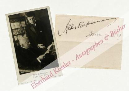 Bassermann, Albert, Schauspieler (1867-1952).
