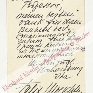 Moeschlin, Felix, Schriftsteller (1882-1969).