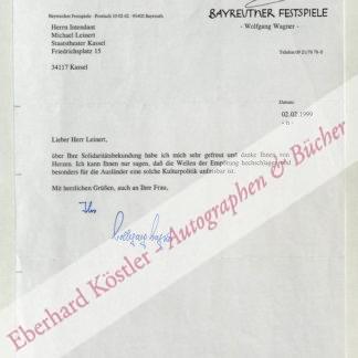 Wagner -  Wagner, Wolfgang, Regisseur (geb. 1919).