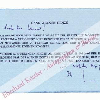Henze, Hans Werner, Komponist (geb. 1926).