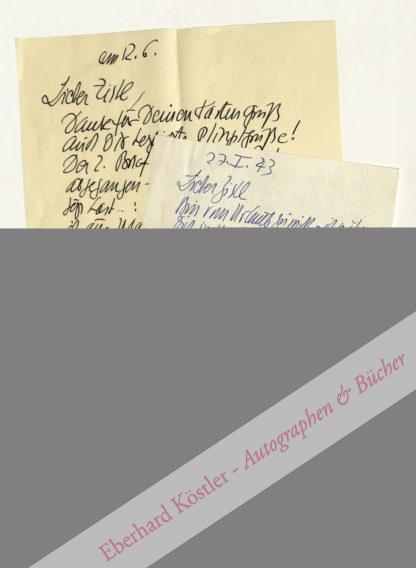 """Bode, Arnold, Maler, Zeichner und Begründer der """"documenta"""" (1900-1977)."""