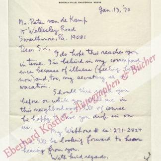 Gershwin, Ira (d. i. Israel Gershowitz), Bruder und Texter von George Gershwin (1896-1983).