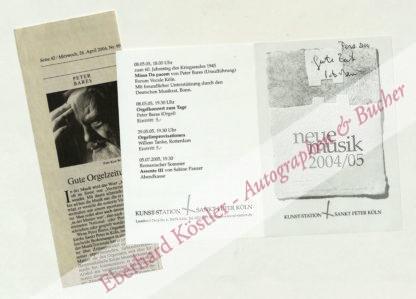 Bares, Peter, Organist und Komponist (geb. 1936).
