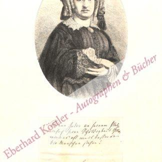Lewald-Stahr, Fanny, Schriftstellerin und Frauenrechtlerin (1811-1889).