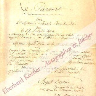 Bernhardt, Sarah -  Dorchain, Auguste, Schriftsteller (1857-1930).