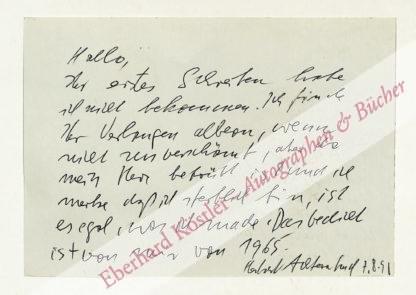 Achternbusch, Herbert, Schriftsteller (geb. 1938).