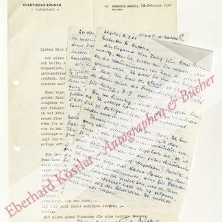 Sistig, Alfred Erich, Intendant von 1960-1968 in Münster (Daten nicht ermittelt).