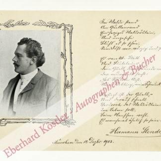 Stendel, Hermann, Schriftsteller (Daten nicht ermittelt).
