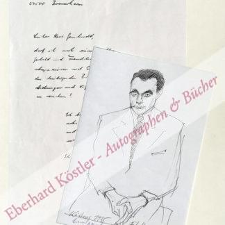 Gernhardt, Robert, Schriftsteller und Zeichner (1937-2006).