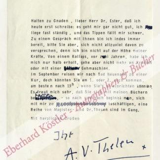Thelen, Albert Vigoleis, Schriftsteller (1903-1989).