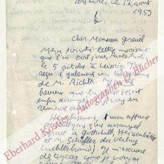 Adamov (eig. Adamian), Arthur, Schriftsteller und Dramatiker (1908-1970).