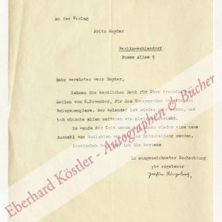 Ringelnatz, Joachim, Schriftsteller und Maler (1883-1934).