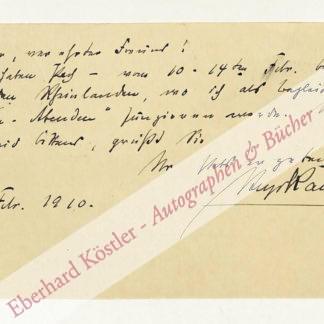 Kaun, Hugo, Komponist (1863-1932).