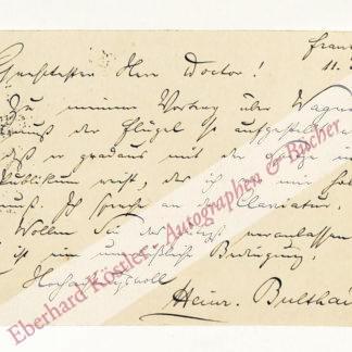 Bulthaupt, Heinrich, Schriftsteller (1849-1905).