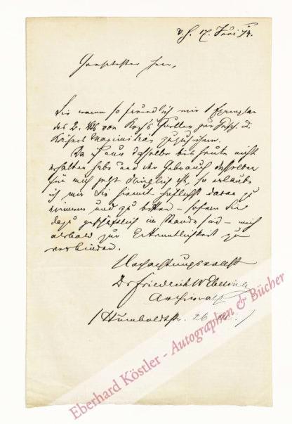 Ebeling, Friedrich Wilhelm, Schriftsteller und Archivar (1822-1891).