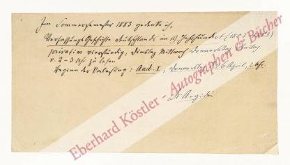 Aegidi, Ludwig Karl James, Jurist und Politiker (1825-1901).