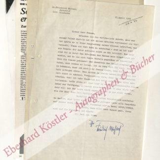 Michael, Friedrich, Schriftsteller und Verlagsleiter (1892-1986).