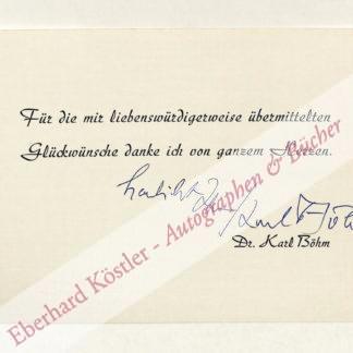 Böhm, Karl, Dirigent (1894-1981).