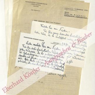 Heger, Robert, Dirigent und Komponist (1886-1978).