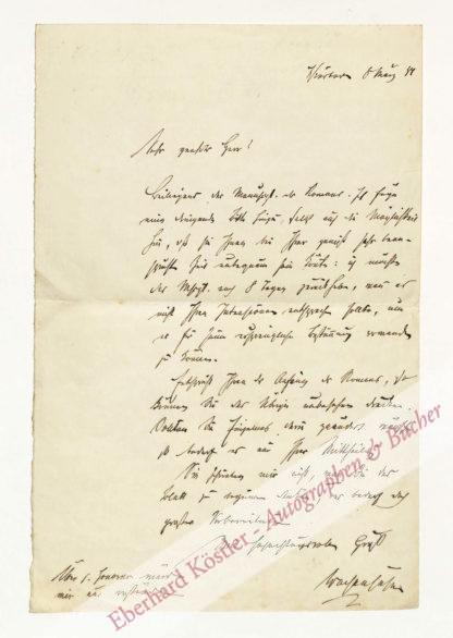 Wachenhusen, Hans, Reise- und Abenteuerschriftsteller (1823-1898).