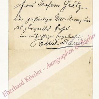 Sauer, Emil, Komponist und Pianist (1862-1942).