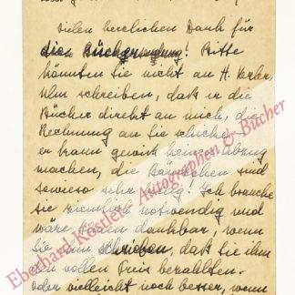Hesse, Hermann -  Hesse, Ninon (geb. Ausländer, verh. Dolbin), Kunsthistorikerin, 3. Frau von Hermann Hesse (1895-1966).