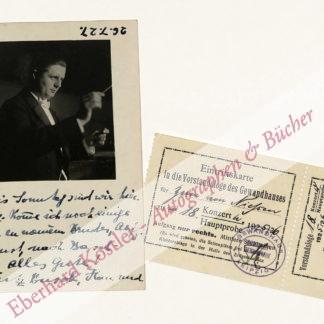 Busch, Fritz, Dirigent (1890-1951).