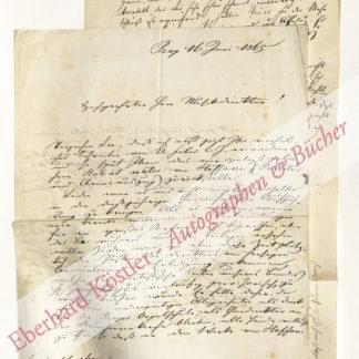 Schebek, Edmund, Musikschriftsteller und Autographensammler (1823-1895).