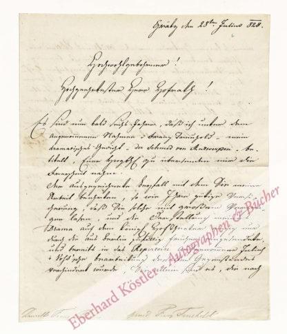Durville, Franz von (Pseud. Franz Treuhold), Hauptmann und Dramatiker (Daten nicht ermittelt).