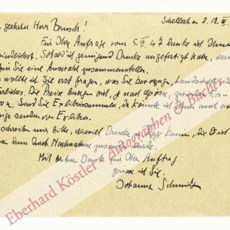 Schmidt, Johanna, Malerin (1893-1966).