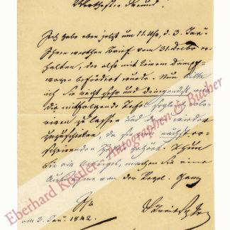 Beethoven -  Treitschke, Georg Friedrich, Schriftsteller und Entomologe, Librettist Beethovens (1776-1842).
