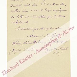 Golz, Alexander Demetrius, Maler und Bühnenbildner (1857-1944).